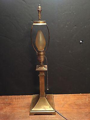 Arts & Crafts Table Lamp Original Patina Hubbell Socket Acorn Pull Chain 58C