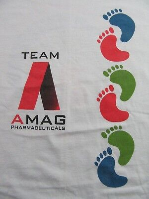Amag Pharmaceuticals Walk For The NEW KIDNEY FOUNDATION White SS T Shirt Size - Foundation S/s Tee