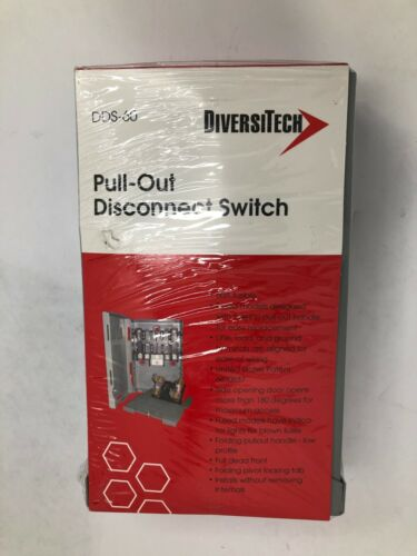 DiversiTech DDS-60 Fused 60A Boxed Pull Out Fusible Disconnect Switch