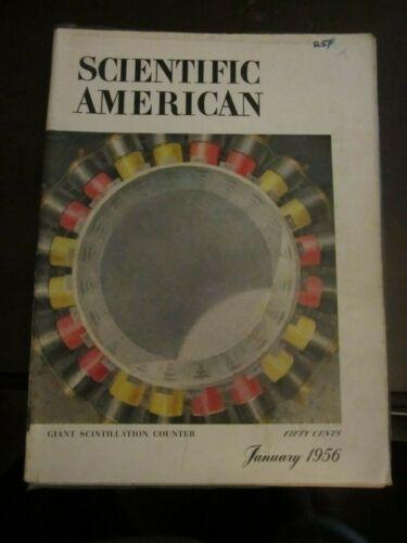 Scientific American Magazine January 1956 Giant Scintillation Counter