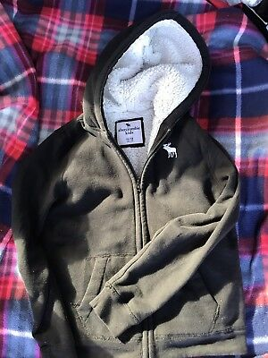 abercrombie kids boys zip Up Navy Hoodie Sz 11/12