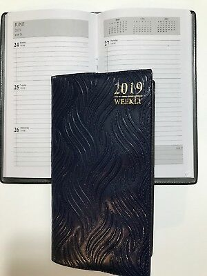 2019 Pocket Purse Planner Calendar Appointment Book Student Agenda -4x7 Blue