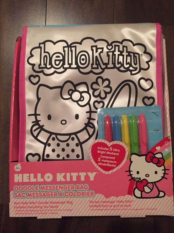 Hello Kitty Doodle Messenger Bag - NEW  a3844cd471776