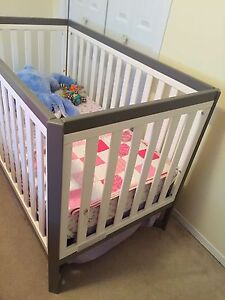 Baby crib and mattress for sale.