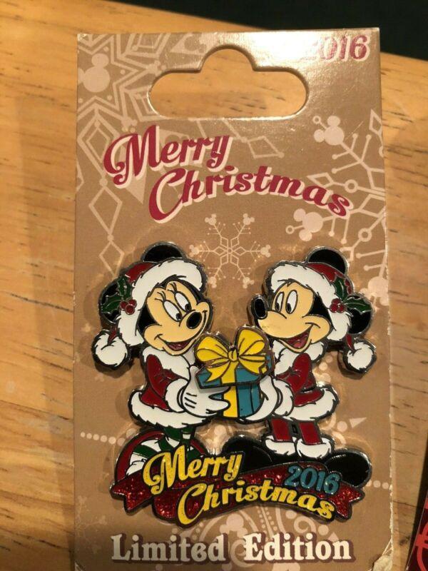 Disney Merry Christmas Holiday Santa MICKEY MINNIE Pin 2016