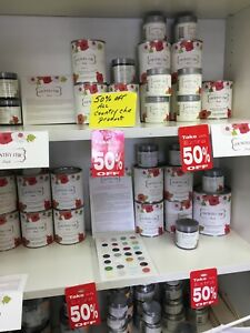 Close Out Sale 50% Off Country Chic Paint at the Market