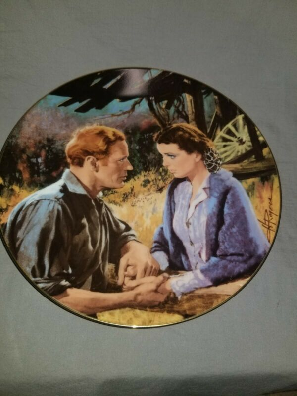 Gone with the Wind Collector Plate ; Scarlett and Ashley 1988 3rd in series asis