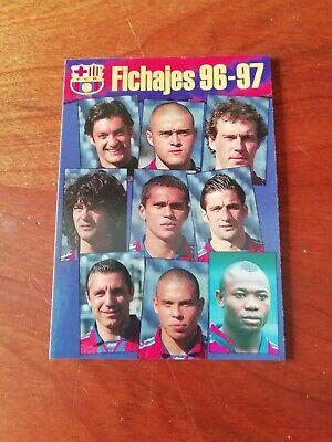 RONALDO #10 F. C. BARCELONA COLECCIÓN FICHAS ALBUM BARÇA 96/97 FICHAJES