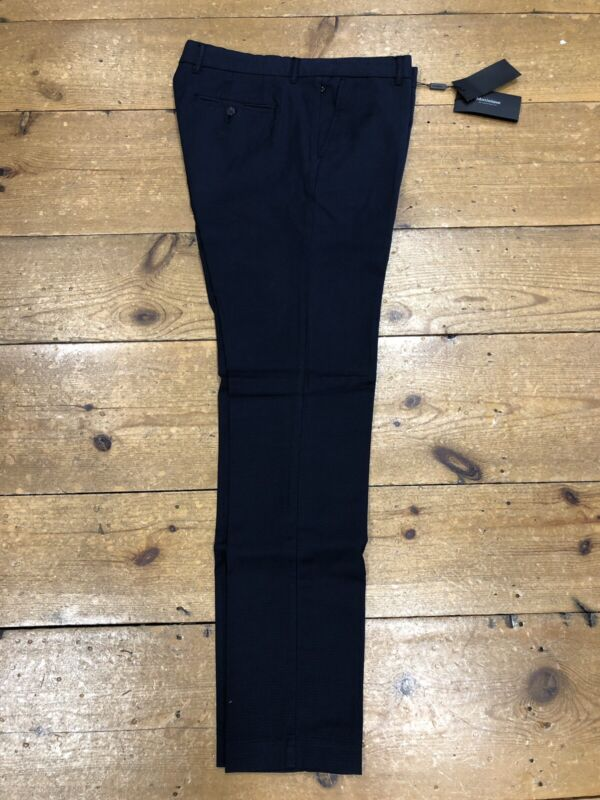 Matinique® Las Microcheck Trousers/Blue - 34/32 TICKET PRICE £89.95