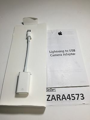 Genuine Apple Lightning to USB Camera Adapter MD821AM/A  A1440