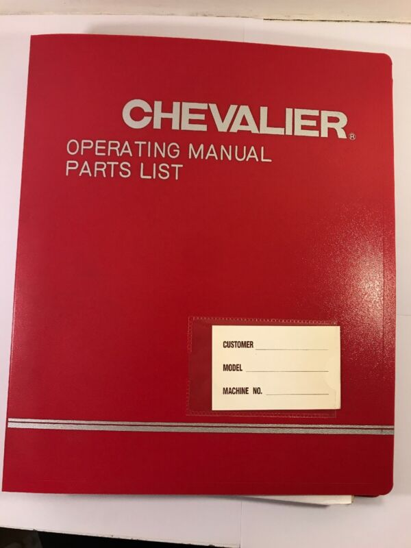 Chevalier Operating Manual Falcon-32/36/40