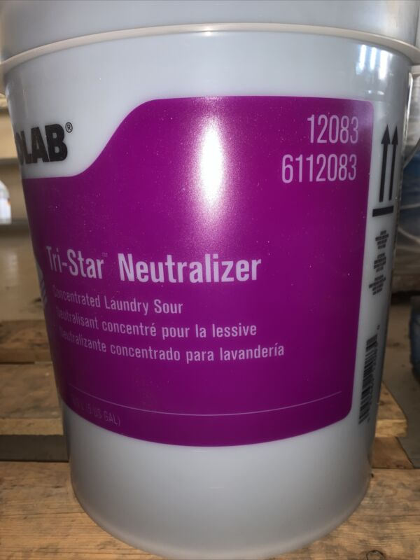 5 US GALLON BUCKET Ecolab 12083 Tri-Star Concentrated LAUNDRY Neutralizer Sour