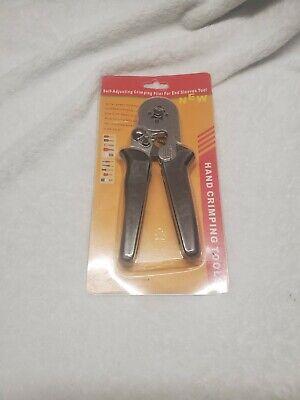 Self Adjusting Ratcheting Ferrule Crimper Plier Hsc8 6-4 0.25-10mm2 Awg 23-7