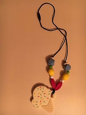 New Handmade Bpa Free Silicone Baby Teething Beads Necklace