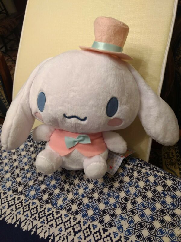 NEW Japan Cinnamoroll Plush Sanrio Doll Mascot Gentleman Gentlemen Suit Hat Pink