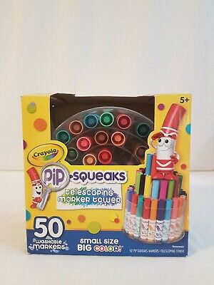 Crayola Pipsqueaks Telescoping Marker Tower, Assorted Colors 50 Washable Markers