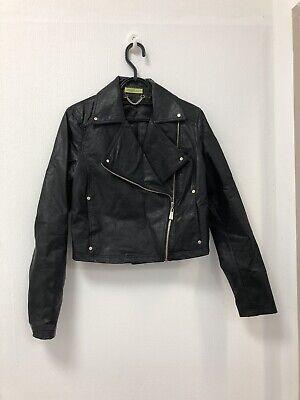 Ladies Versace Faux Leather Biker Jacket Size 10/12