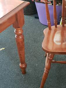 Dining table six chairs 150