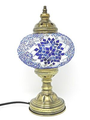 Turkish Mosaic Table Lamp Stained Glass Light Handmade