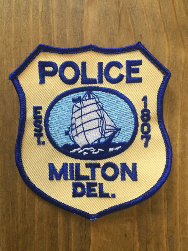 Milton Delaware Police Department Shoulder Patch Brand New