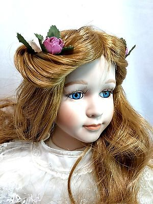 """Dynasty Collection QVC Vintage 1991 Butterfly Princess 18"""" Porcelain Doll SNMIB"""