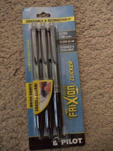 Pilot® FriXion RETRACTABLE Erasable CLICKER BLACK GEL PEN INK 14288 X FINE 0.5MM