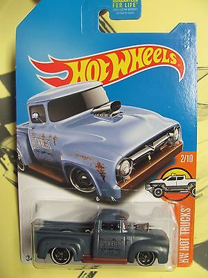 2017 Hot Wheels Kmart Collector Days Car 56 Ford Truck Custom Color Dark Blue A
