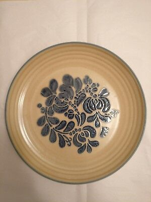 NEVER USED Pfaltzgraff Folk Art Salad Dessert  Plates USA Old Castle Mark