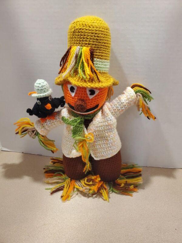 Handmade Crochet Scarecrow