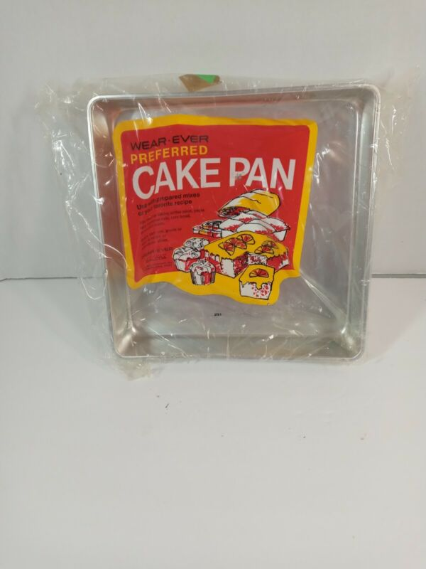 """Vintage WEAR-EVER No.2753 Aluminum Square Baking Pan 9"""" x 9"""" x 1 3/4 NEW nice"""
