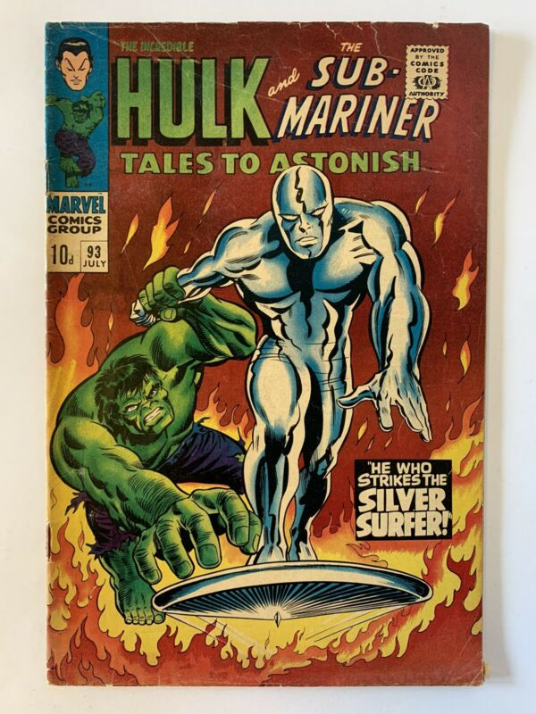 TALES TO ASTONISH #93 HULK & SUB-MARINER SILVER SURFER SILVER AGE CLASSIC 1967
