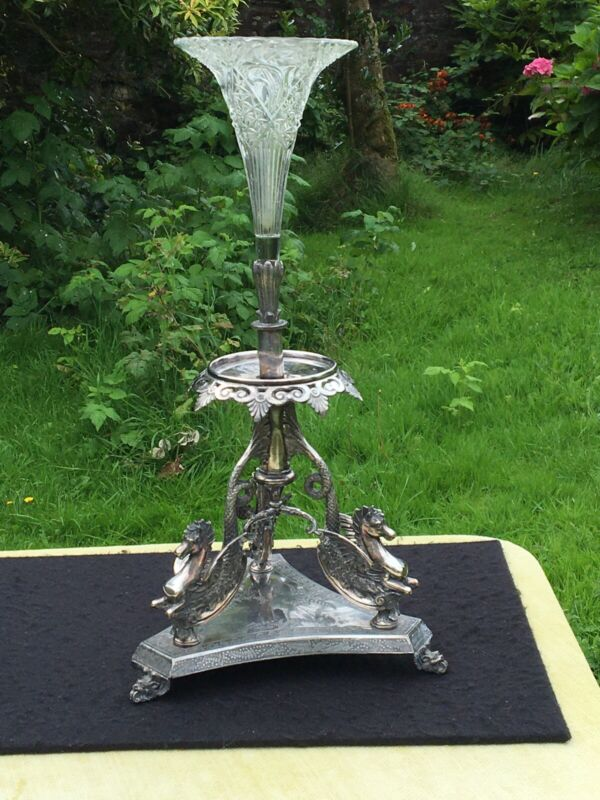 Epergne CENTRE PIECE  SHEFFIELD circa 1912 by JAMES DIXON and sons Antique rare
