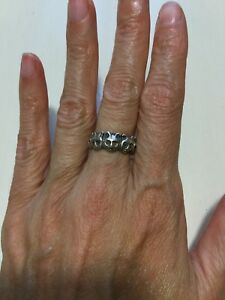 Bague argent 9.25 CHATS Cats Silver ring
