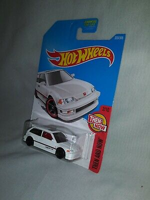 Hot Wheels 90' Honda Civic EF White Then and Now