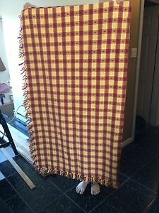 Primitive table cloth or throw