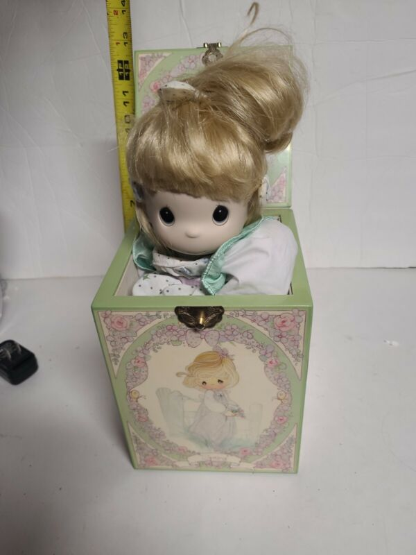 NOS Enesco Precious Moments Jack In The Box Music Box Retired LE Voice Of Spring