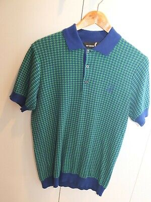 Fred Perry x Raf Simons Knit Polo sz.38 Made in Italy Multi-Color