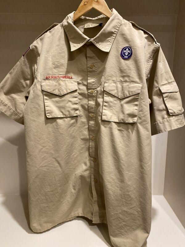 Boy Scout BSA UNIFORM SHIRT Adult Large Short Sleeve New Style D9