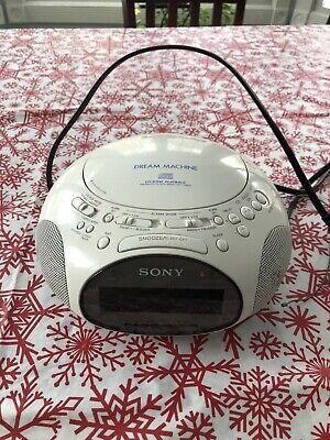 Sony Dream Machine ICF-CD831 CD Player/AM FM Radio/Alarm Clock White