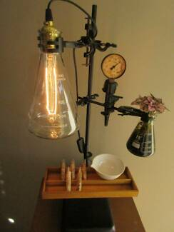 Industriallamp FYI - Ceiling lamp made by chemistry test tubes