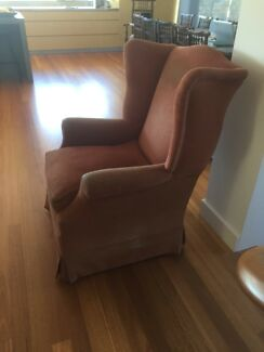 Wing chair crying out to be recovered