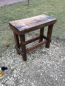 Reclaimed wood shelf/table