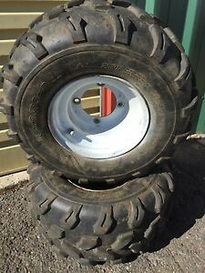 Quad / ATV rims with tyres Hobart CBD Hobart City Preview