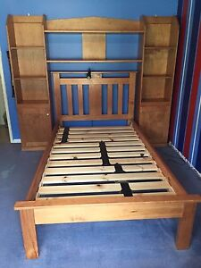 King size single bed with shelving unit Bedfordale Armadale Area Preview