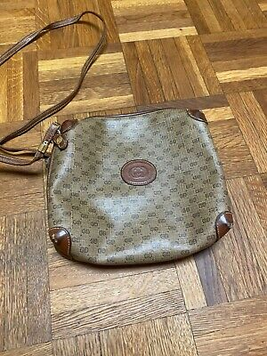 Very Rare Vintage Gucci Sherry Line Shoulder Bag Crossbody GG Monogram Authentic