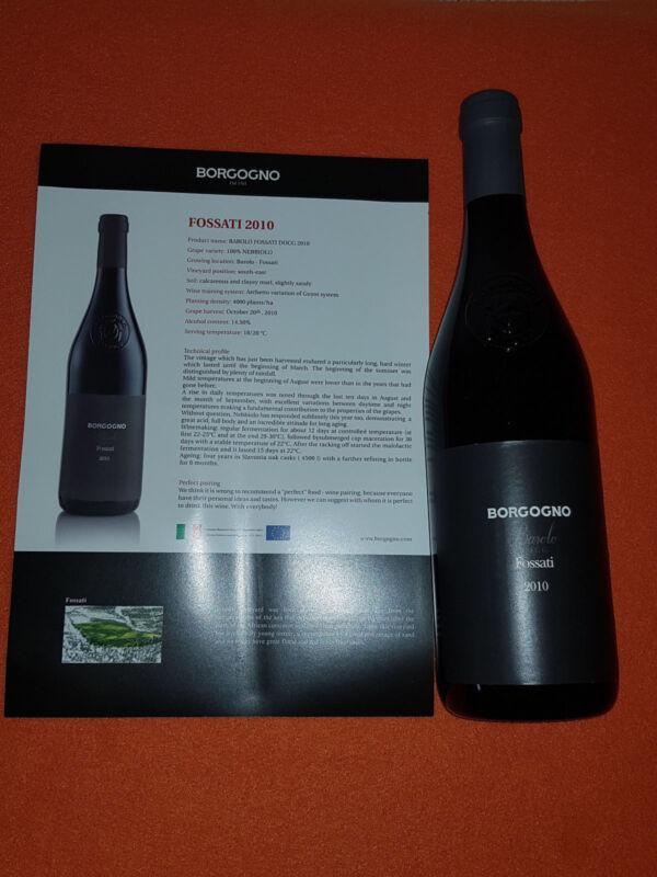 6 Flaschen Barolo Fossati 2010 - Giacomo Borgogno & Figli - 0, 75L, 14, 5% Vol.
