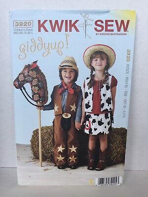 Western Wear For Kids (Kwik Sew Pattern 3920 Giddyup Western Wear Costumes for Kids XXS-L Stick)