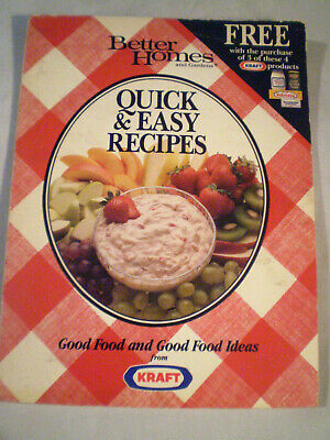 Vintage Better Homes and Gardens Quick & Easy Recipes PB 1988 see