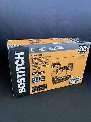 Bostitch 20 Volts 2.5-in 16-Gauge Finish Nailer Kit 20V Nail Gun 16GA BCN662D1