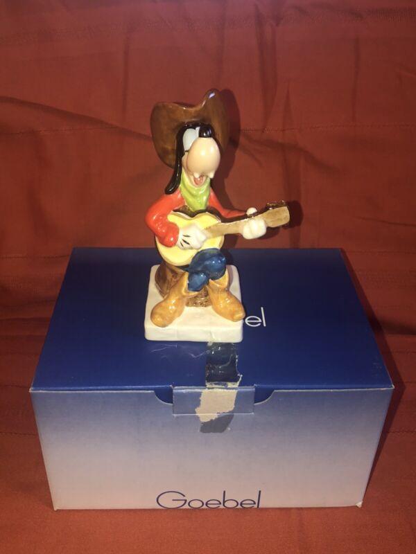 "VTG Goebel Germany Disney Cowboy Guitar Playing Western Goofy Figurine 1985 6"""